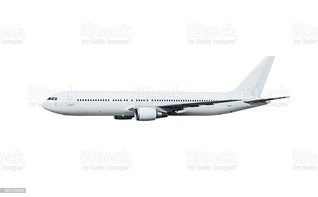 Avion, isolé sur blanc avec un Tracé de détourage - Photo