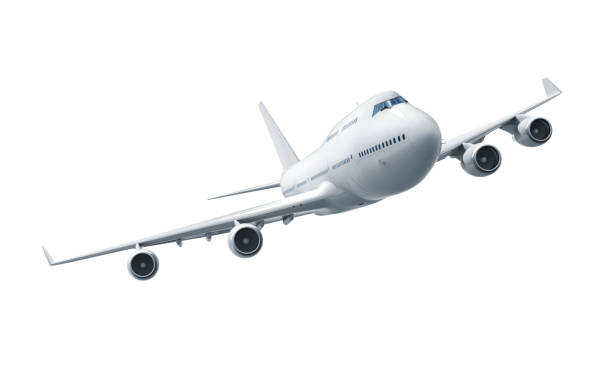 Airplane isolated stock photo