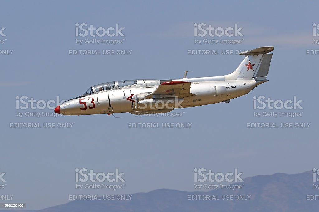 Airplane jet L-29 Soviet trainer foto royalty-free