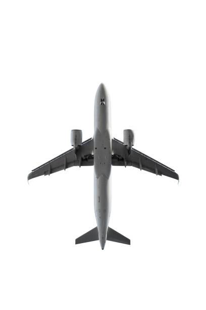 Flugzeug - Landeanflug, direkt unten – Foto