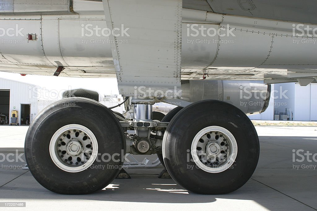 Airplane! Landing Gear royalty-free stock photo