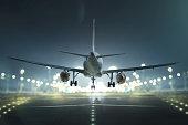airplane night city
