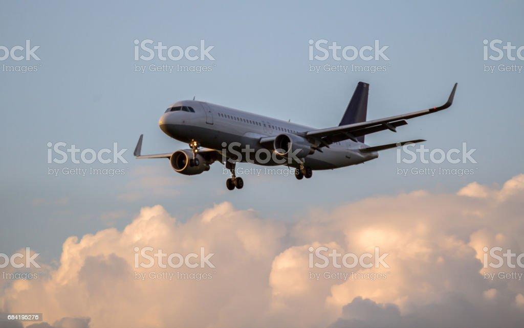Avion atterrissant photo libre de droits