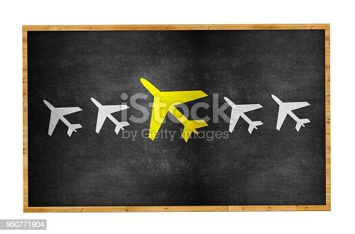istock Airplane Leadership Concept on Blackboard 950771904