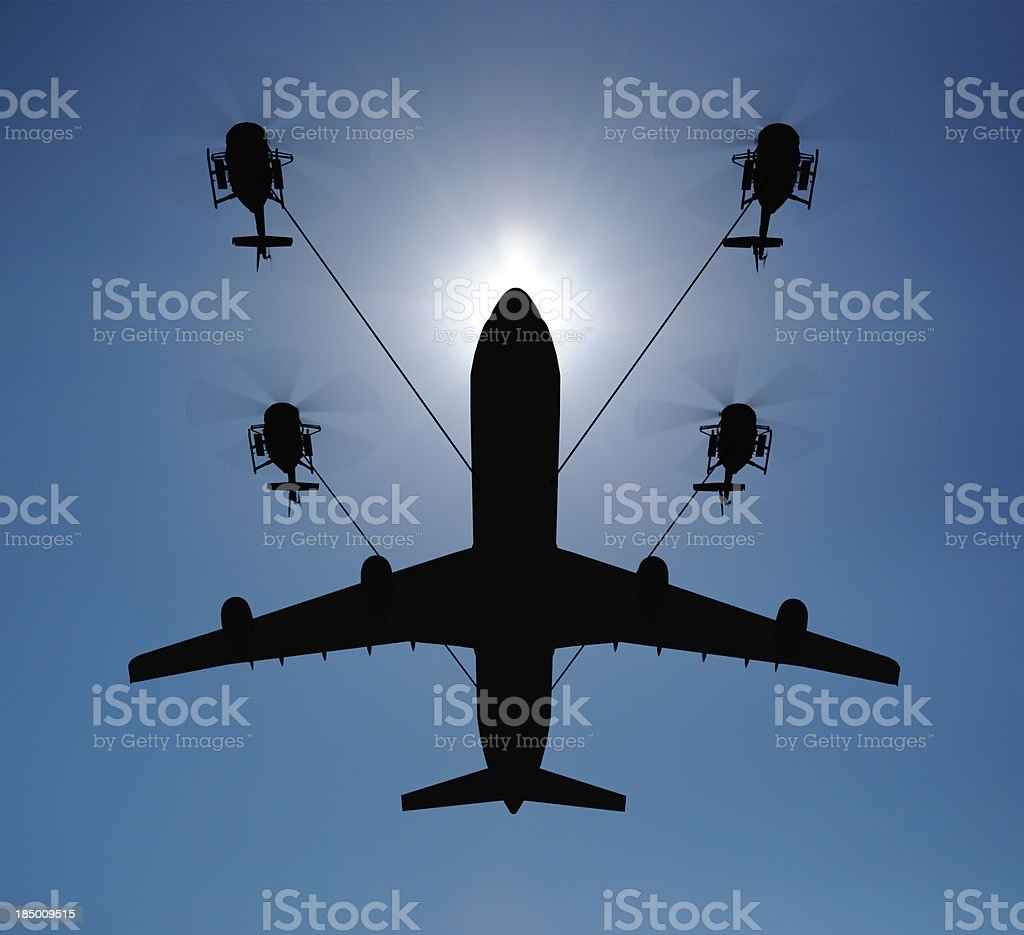Airplane lift stock photo