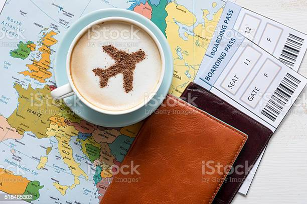 Airplane made of cinnamon in cappuccino passports and europe map picture id518465302?b=1&k=6&m=518465302&s=612x612&h=j2ie57tcv91iykoouakw1ize1o fumokh6bhrua78fc=