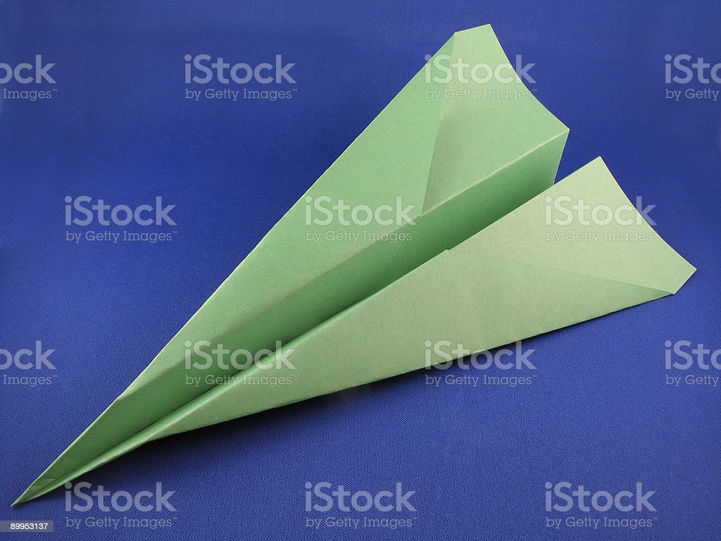 Airplane made of Paper stock photo