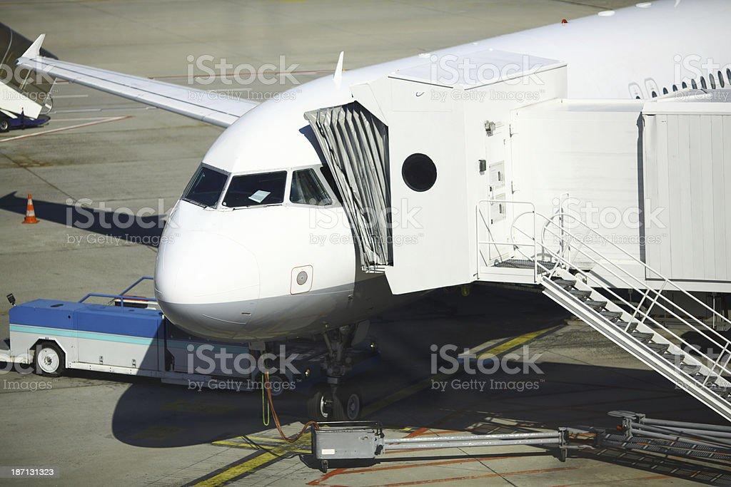 Airplane maintenance. royalty-free stock photo