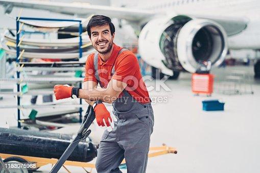 istock Airplane mechanic 1153075968