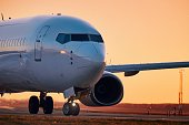 istock Airplane on airport runway 1200487357