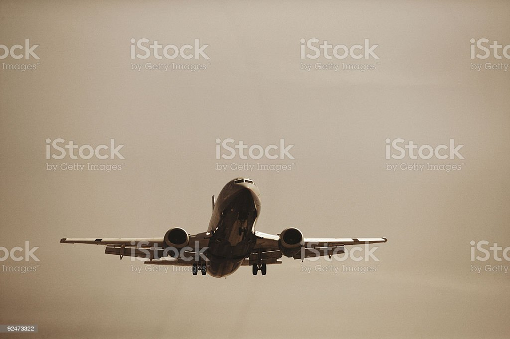 Airplane on Approach royalty-free stock photo