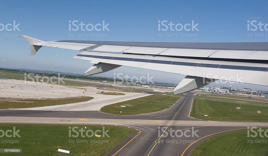 Airplane On Take Off stock photo
