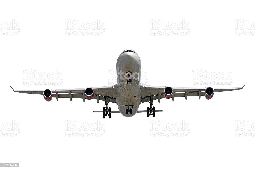 Airplane on white background royalty-free stock photo