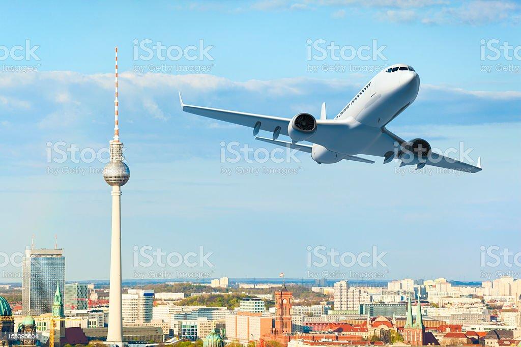 Flugzeug auf Berlin – Foto