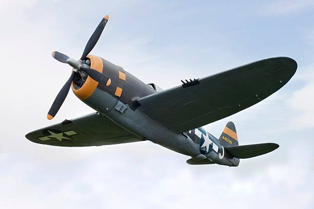 airplane p-47 thunderbolt from world war ii - world war ii stock photos and pictures
