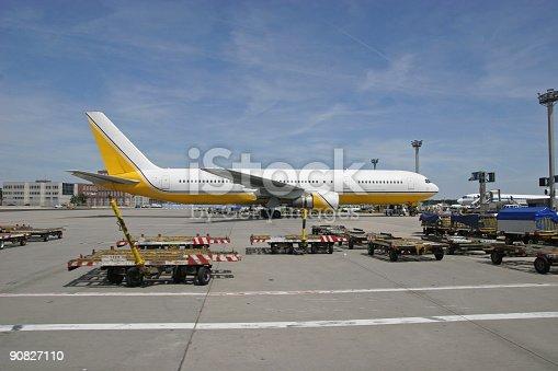 istock Airplane parked on ground 90827110