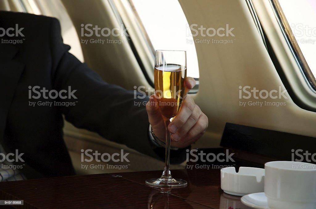 Airplane passenger royalty-free stock photo