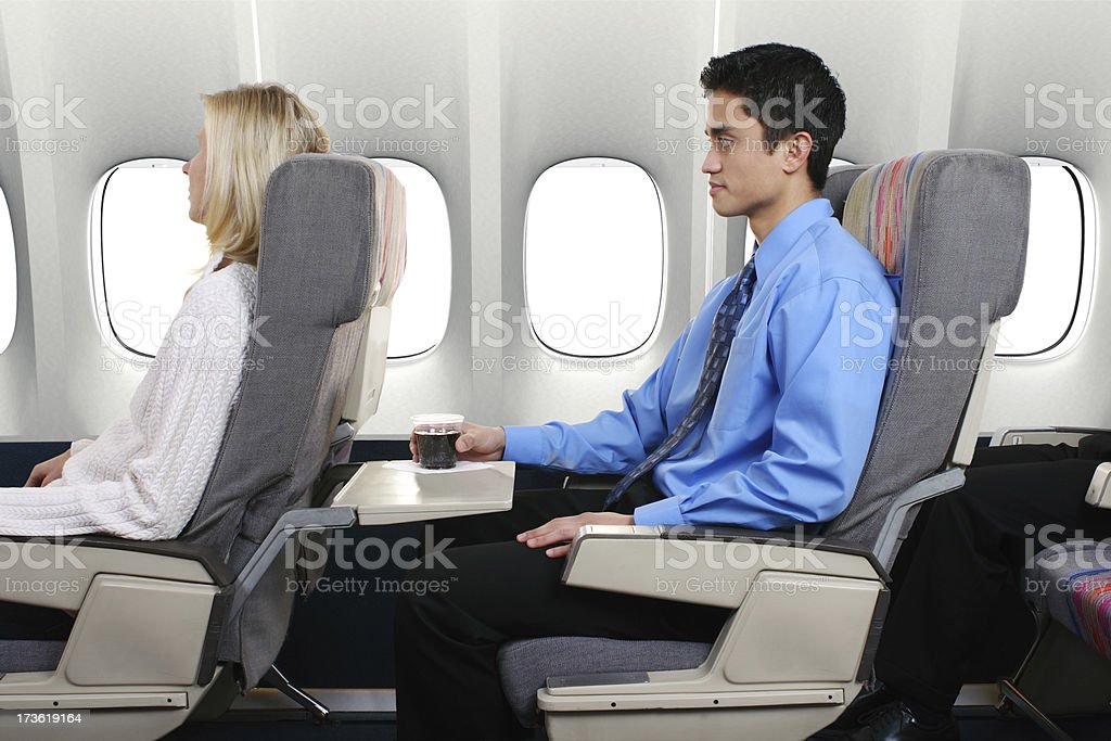 Airplane Passengers royalty-free stock photo