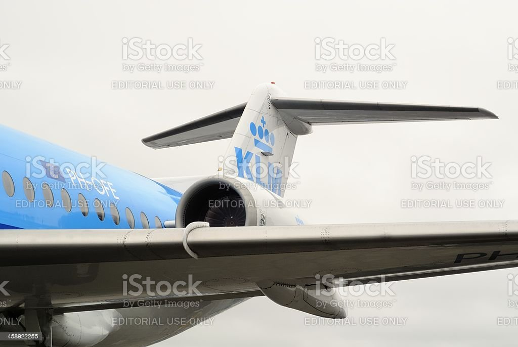 KLM airplane royalty-free stock photo