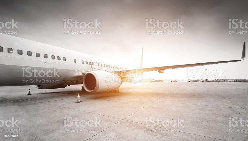 Airplane stock photo