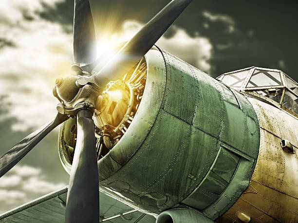 airplane picture of an old airplane propeller stock pictures, royalty-free photos & images