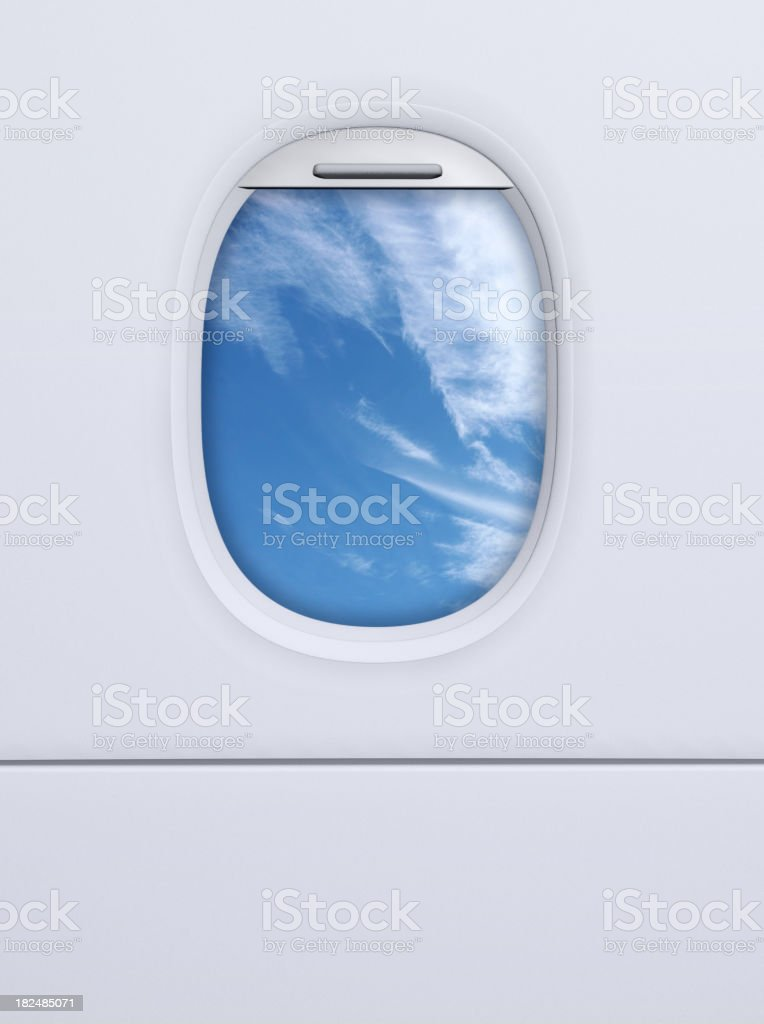 Airplane porthole royalty-free stock photo