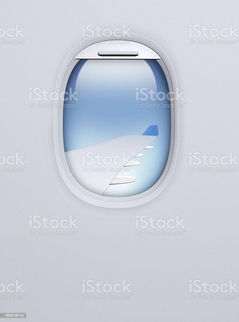 Airplane porthole royalty-free stock photo