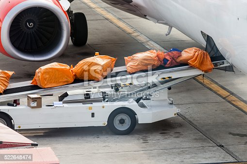 186763256 istock photo Airplane prepare for fight and loading the bags 522648474