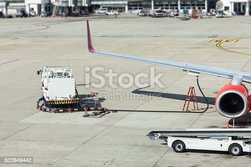 186763256 istock photo Airplane prepare for fight and loading the bags 522649442