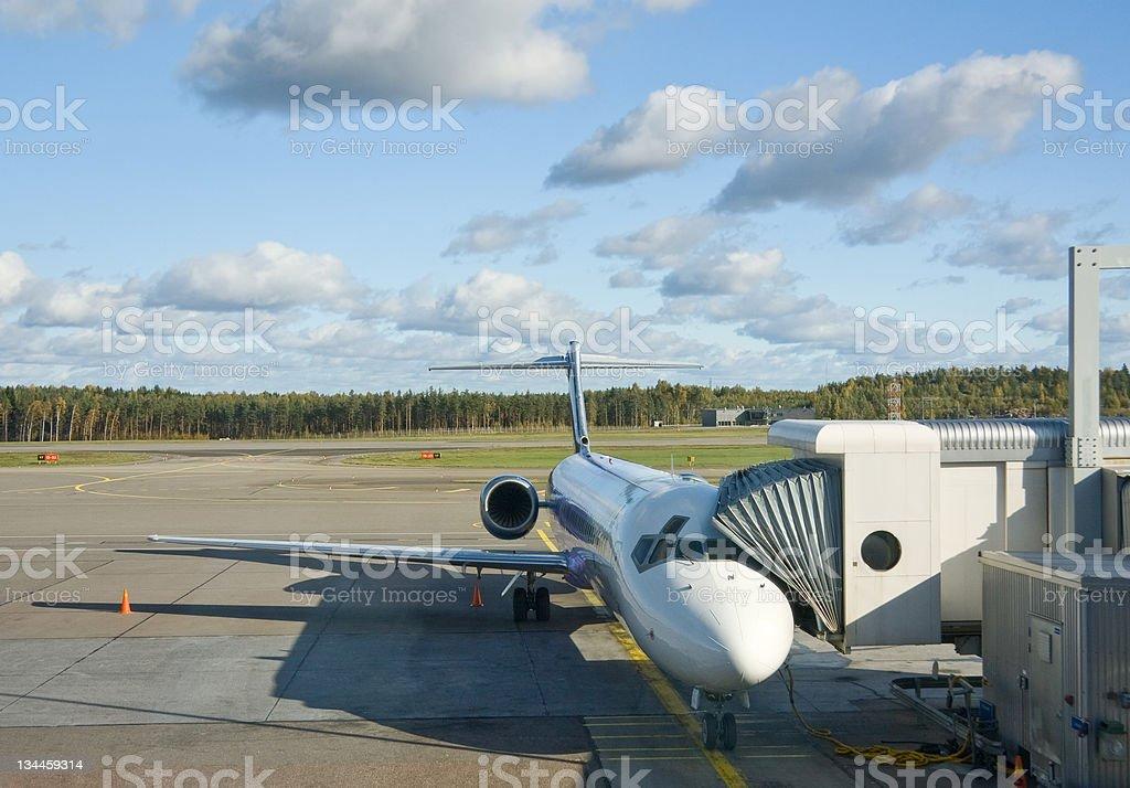 Airplane prepare to boarding royalty-free stock photo
