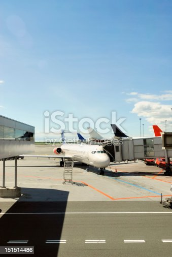 istock Airplane prepared for flight 151514486