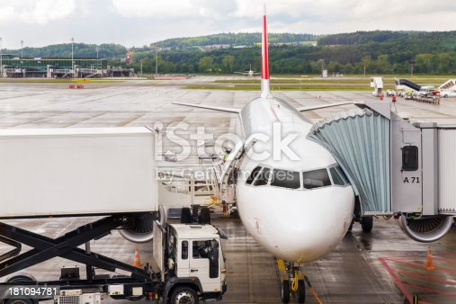 istock Airplane prepared for flight 181094781