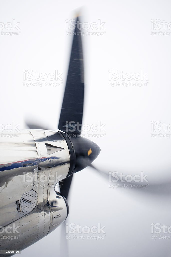 airplane prop stock photo