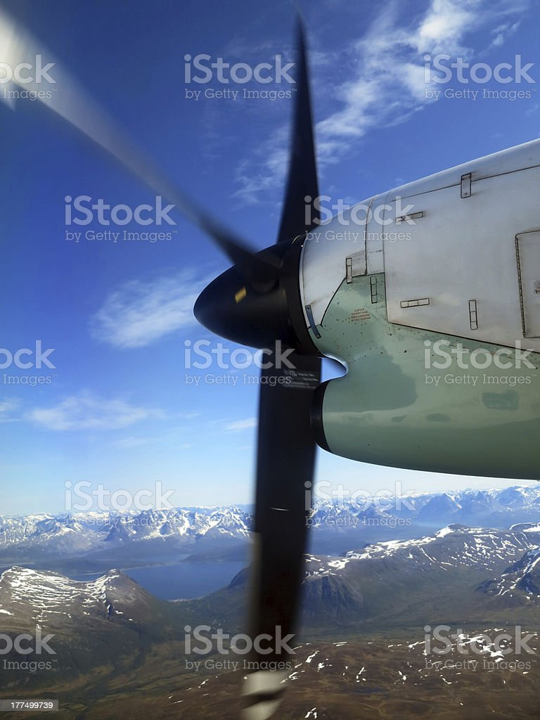 Airplane propeller royalty-free stock photo