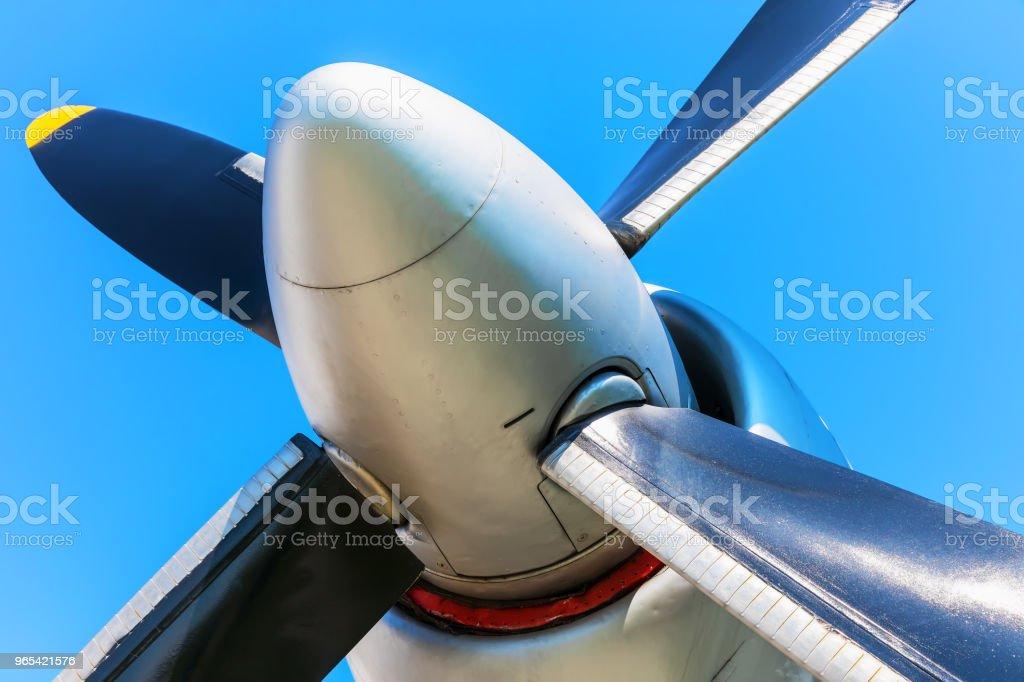 Airplane propeller zbiór zdjęć royalty-free