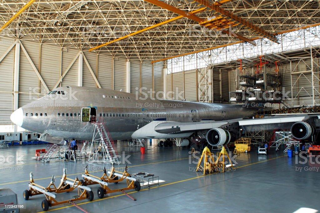 Airplane Repair royalty-free stock photo