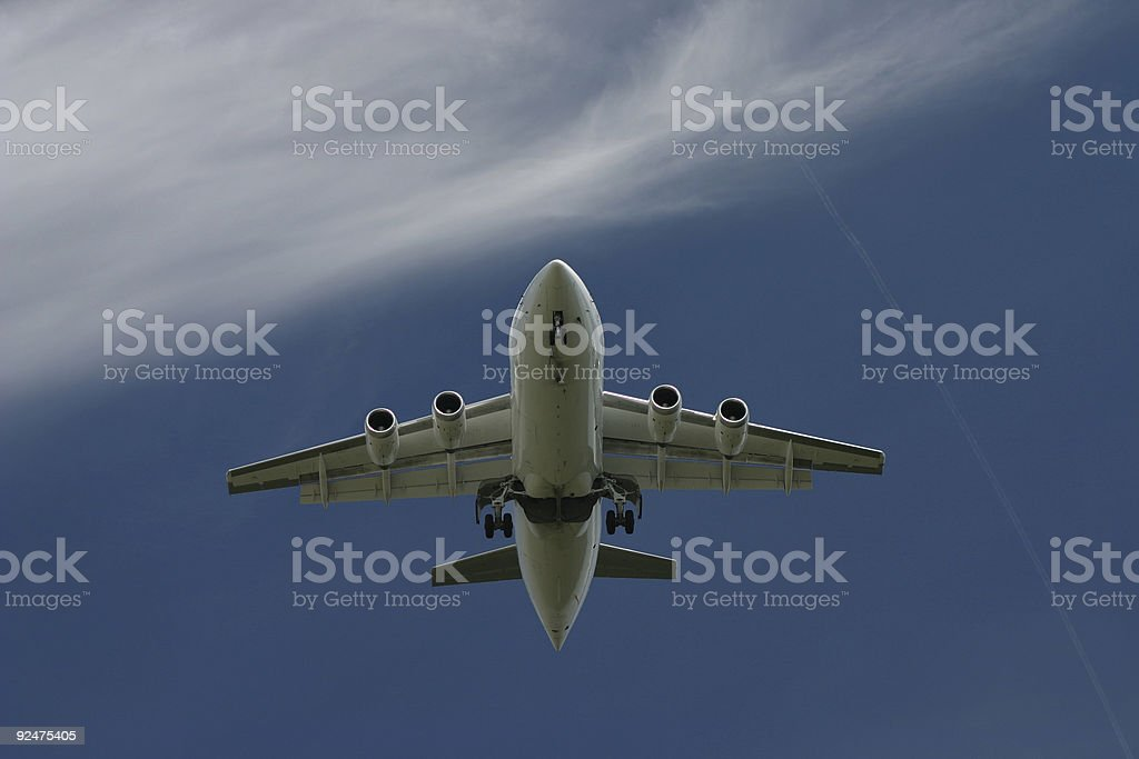 Airplane returning home royalty-free stock photo
