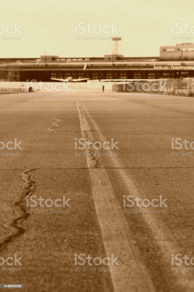 Landebahn am Flughafen Tempelhof – Foto