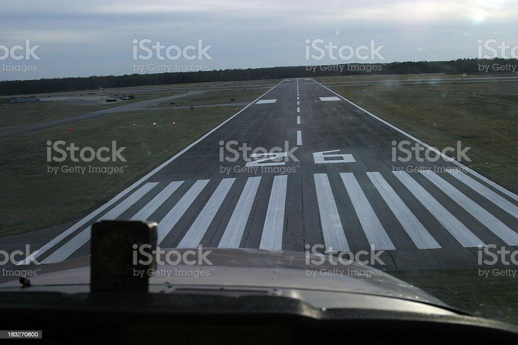 Airplane Runway Landing 3 royalty-free stock photo
