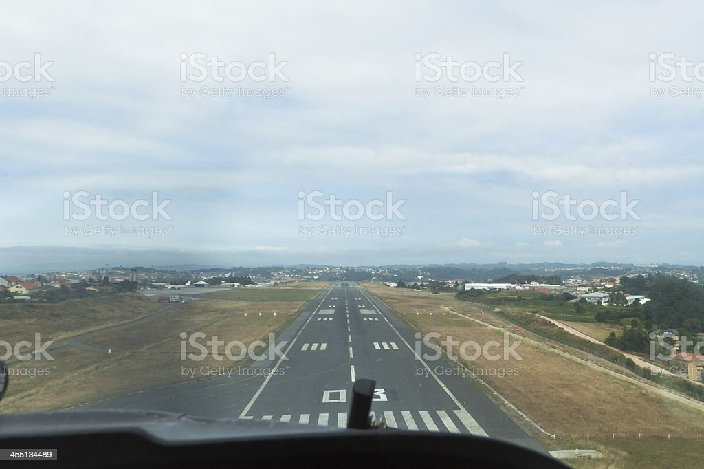 Airplane Runway Landing royalty-free stock photo