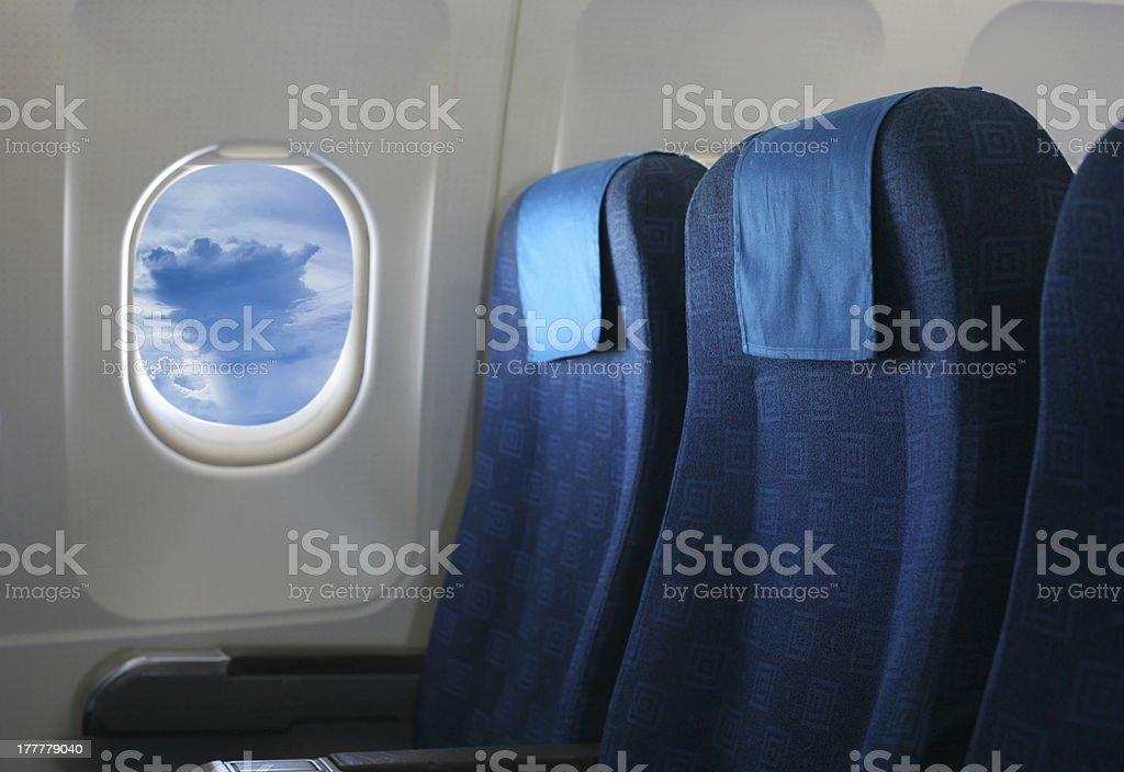 Fenêtre et siège d'avion - Photo