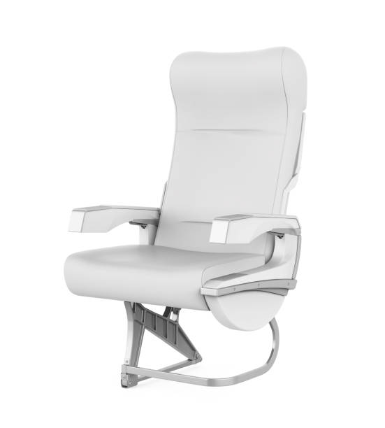 Airplane Seat Isolated Airplane Seat isolated on white background. 3D render airplane seat stock pictures, royalty-free photos & images