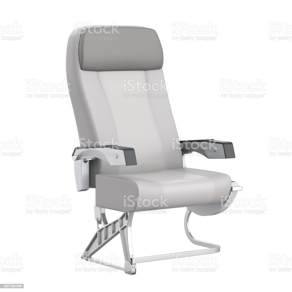 Airplane Seat Isolated stock photo