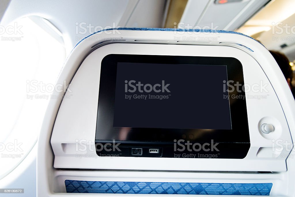 Airplane seat stock photo