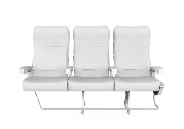 Airplane Seats Isolated Airplane Seats isolated on white background. 3D render airplane seat stock pictures, royalty-free photos & images