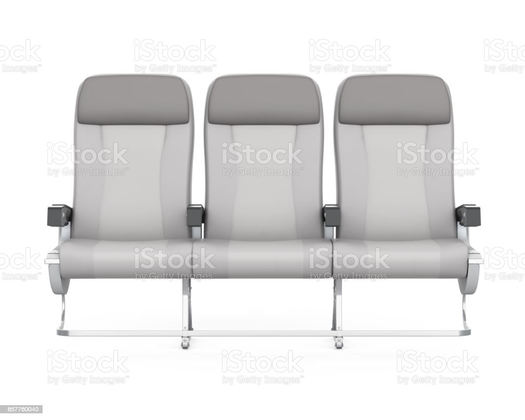 Airplane Seats Isolated stock photo