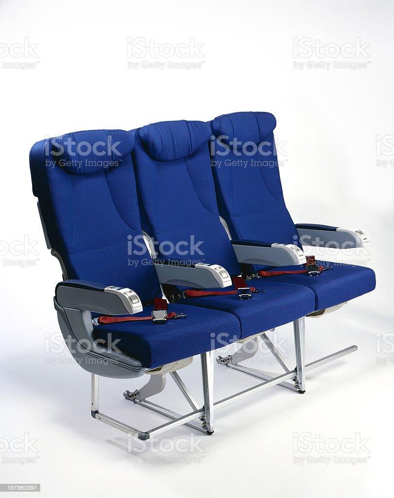 airplane seats stock photo