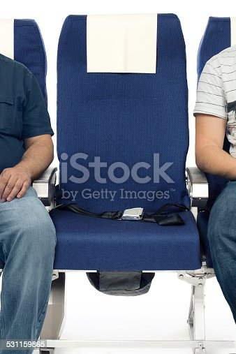 Real airplane seats shot in studio