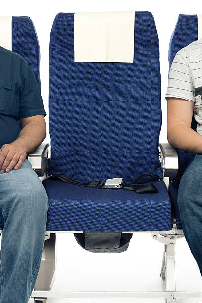 Airplane seats Real airplane seats shot in studio airplane seat stock pictures, royalty-free photos & images