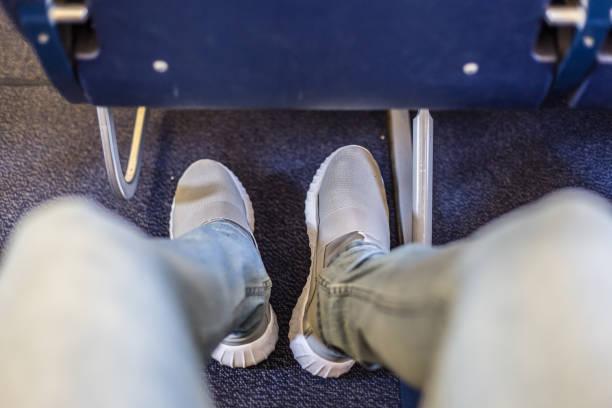 Flugzeug Sitzplätze mit mehr Beinfreiheit für angenehmen Flug. – Foto
